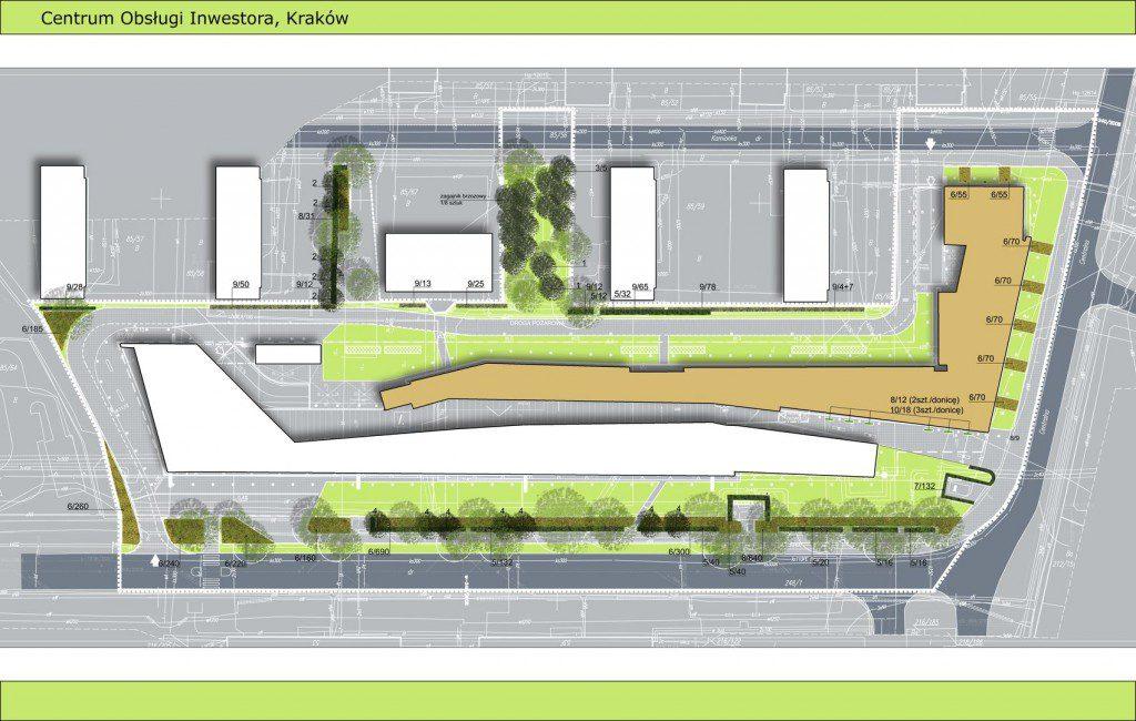 projekt zieleni przy budynku publicznym