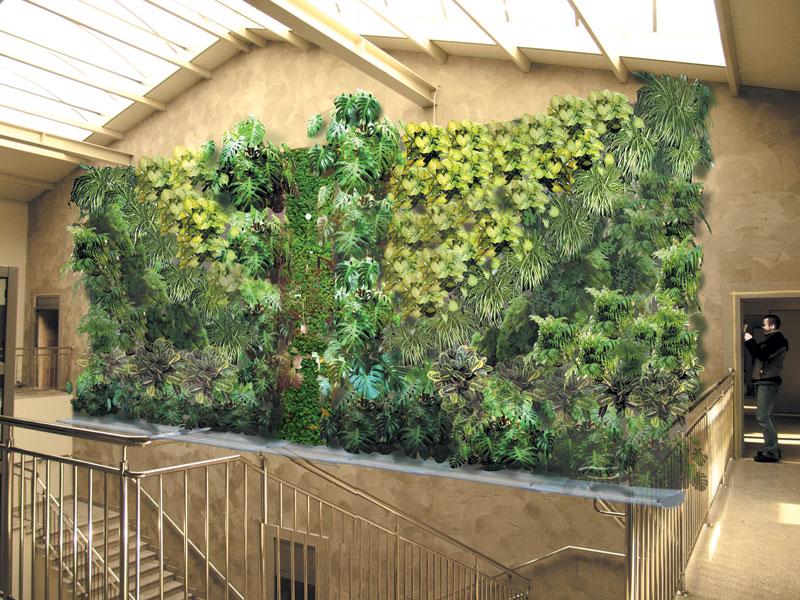 zielona ściana-wizualizacja