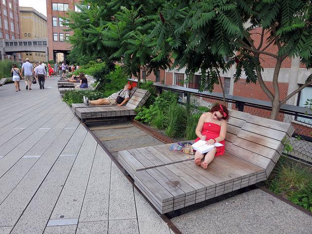 High Line (Piet Oudolf) - Manhattan NY {juli 2012} współcześni architekci krajobrazu