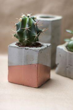 doniczka betonowa diy