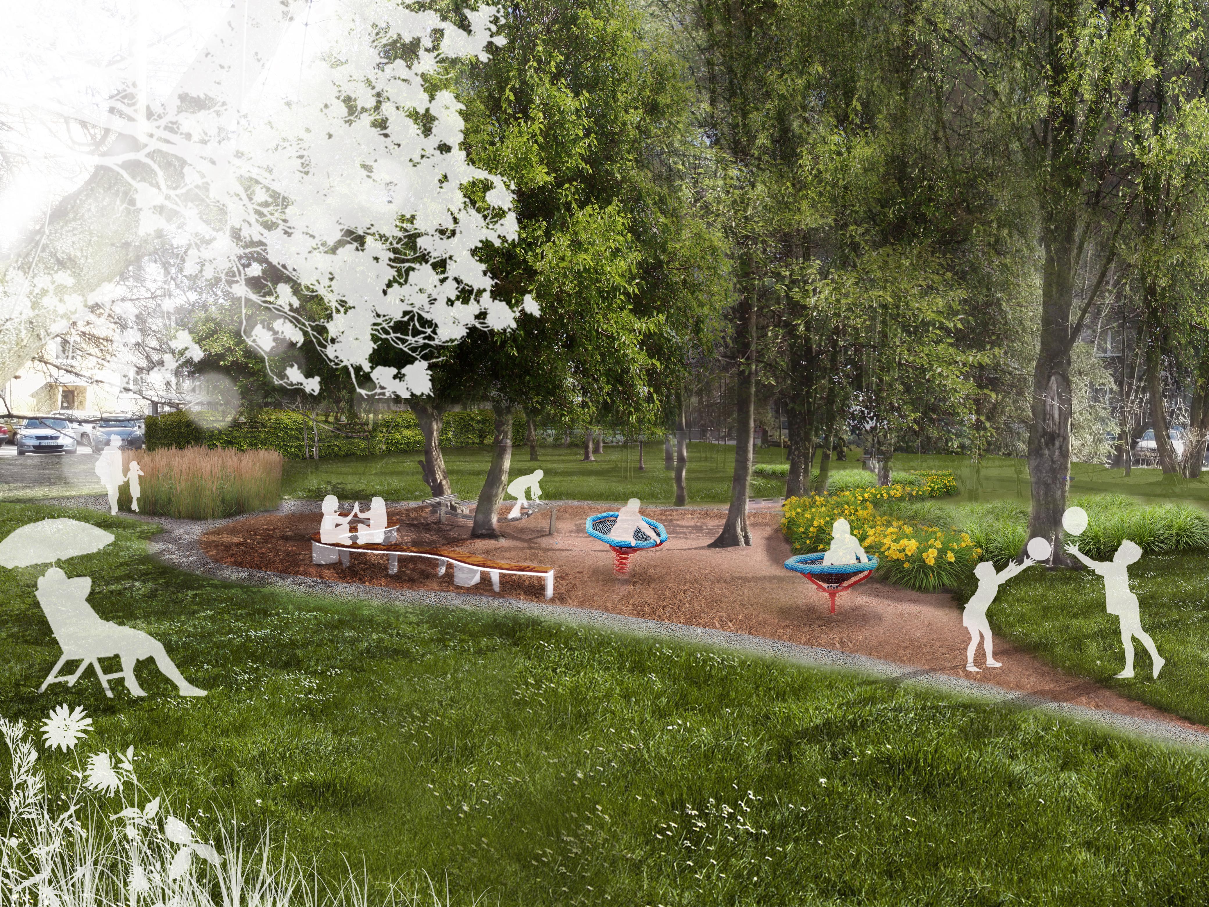 Park kieszonkowy przy Lea w Krakowie