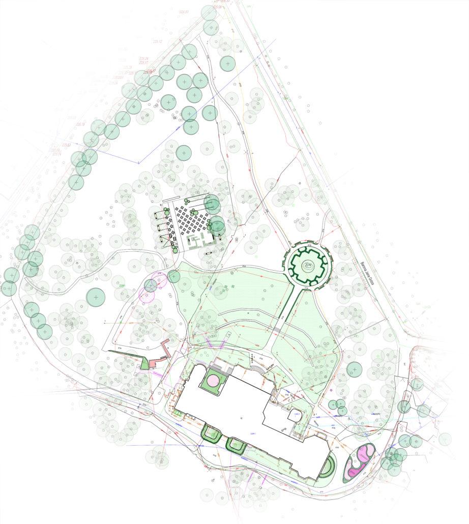 Projekt zabytkowego parku pod Krakowem