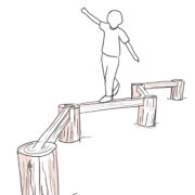 Równoważnia z drewna