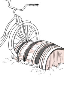 stojak na rowery z recyklingu