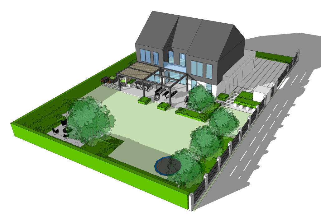 Model projektu ogrodu pod Krakowem